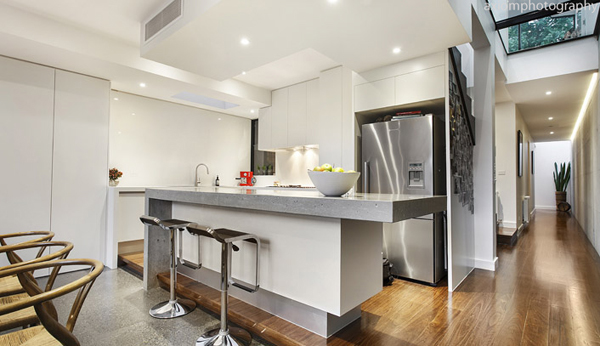 Мельбурнский дом получает современное, изящное дополнение 10