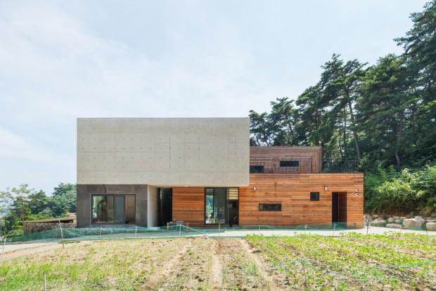 Современная резиденция на территории сельской местности в Южной Корее 2