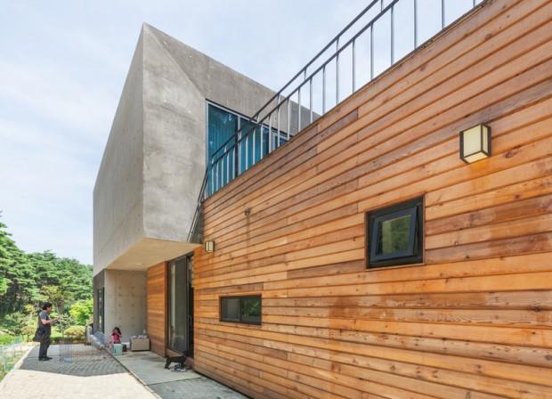 Современная резиденция на территории сельской местности в Южной Корее 3