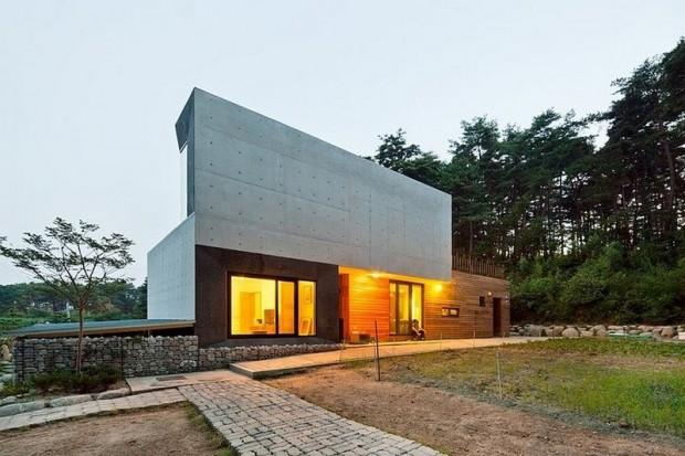 Современная резиденция на территории сельской местности в Южной Корее 4