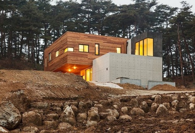 Современная резиденция на территории сельской местности в Южной Корее 7