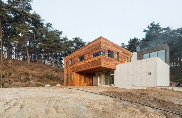 Современная резиденция на территории сельской местности в Южной Корее 8