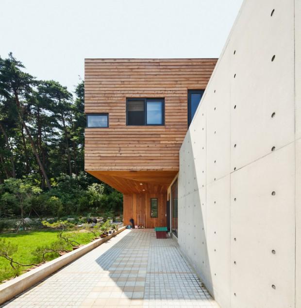 Современная резиденция на территории сельской местности в Южной Корее 10