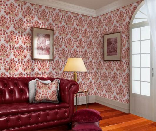 Тканевые обои в цвет мебели