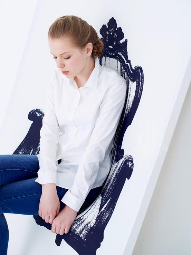 Интригующее кресло, которую можно повесить на стене от YOY Дизайн 3