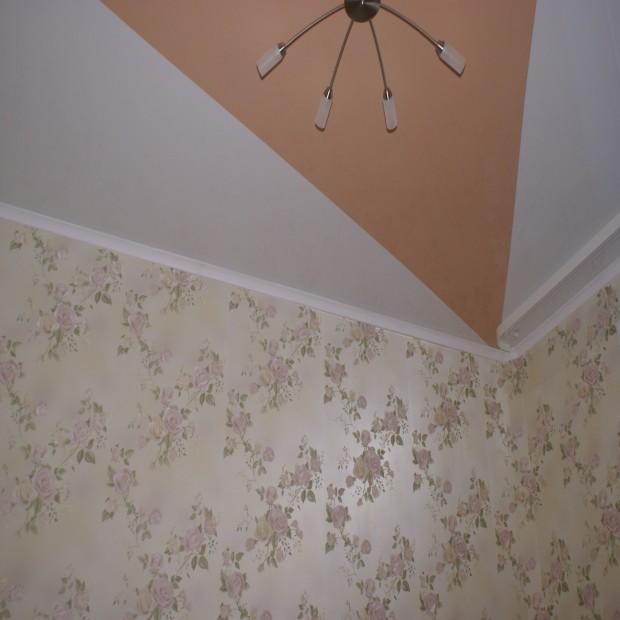 Крашеный потолок