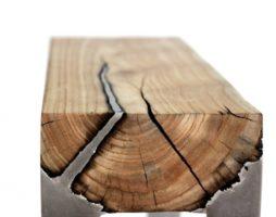 Лавки из алюминия и дерева