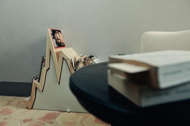 Финансовая диаграмма вдохновила на создание деревянной стойки для журналов 10Y 3