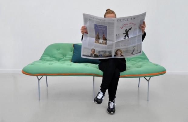 Лондонский дизайнер Стефани Хорниг создал легкую кушетку «Самр»