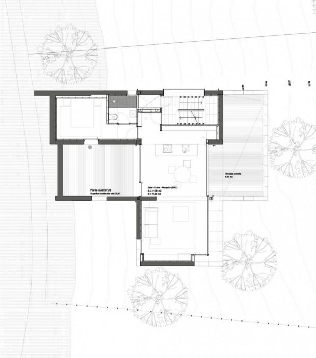 Дом на сложном рельефе 13