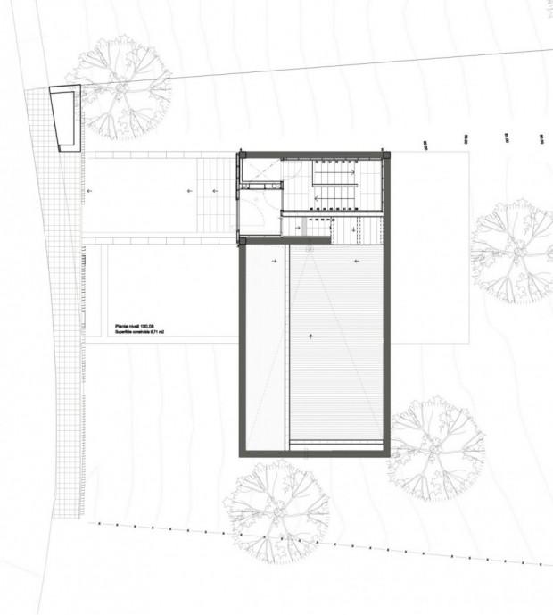 Дом на сложном рельефе 14
