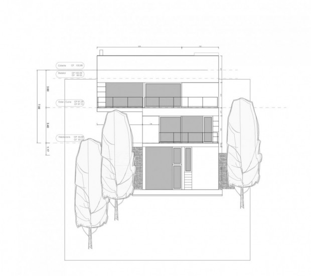 Дом на сложном рельефе 15