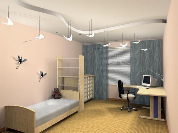 Размещение мебели в детской комнате