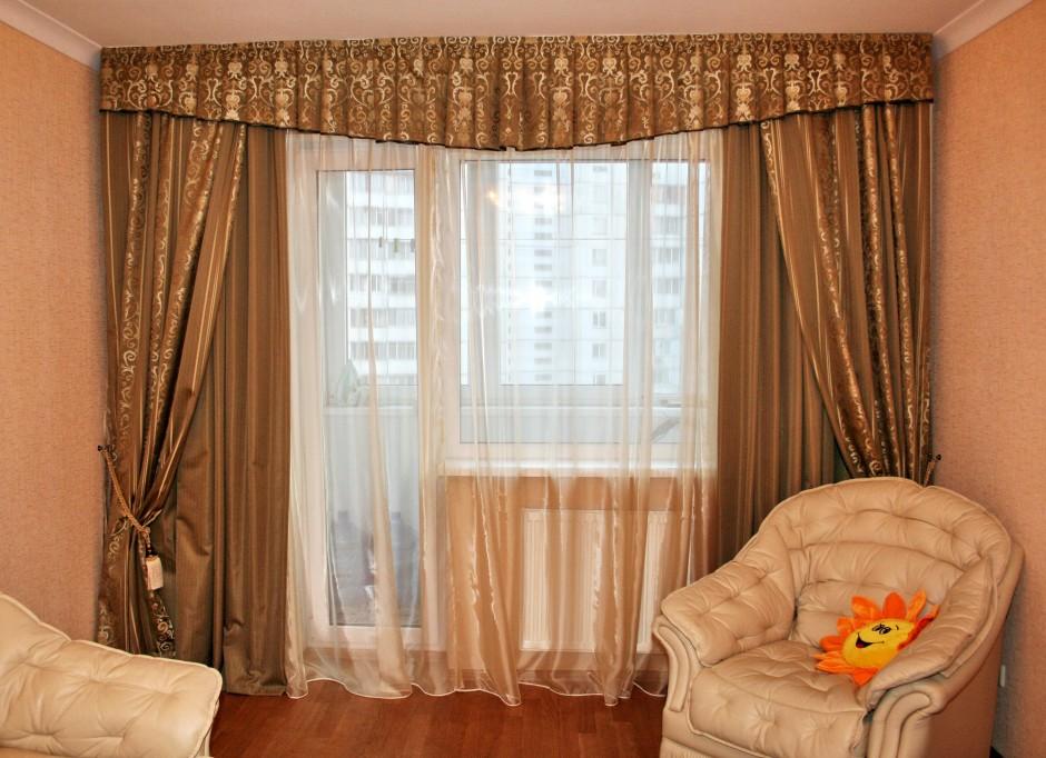 Дизайн окна с одной шторой