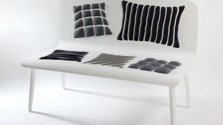 Коллекция скамеек « Поппинс», с иллюзией множества подушек