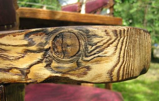 Рельеф деревянного разреза