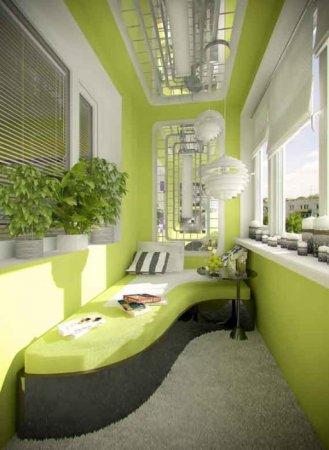 Зеленая лоджия для отдыха
