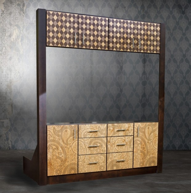 Цифровые печатные шаблоны на мебели