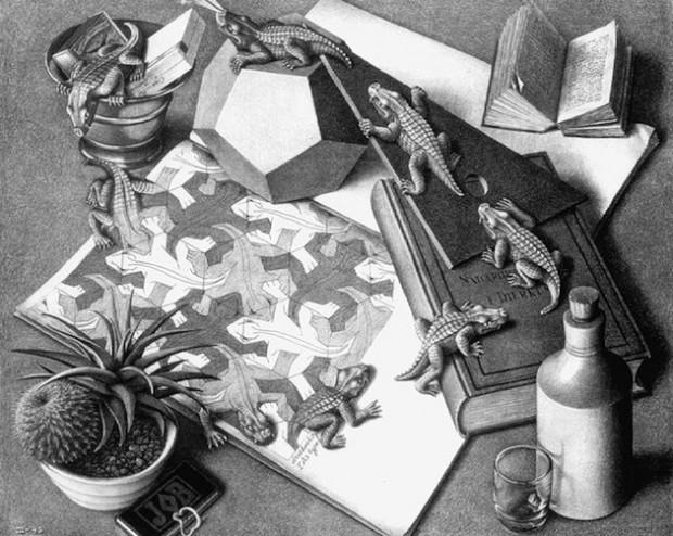 Рисунки рептилий на деревянном полу 4
