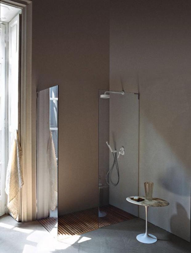 Деревянное покрытие в ванной комнате 2