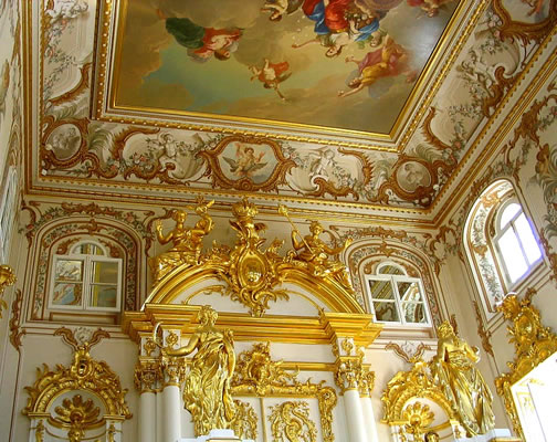 Расписной потолок в стиле Барокко