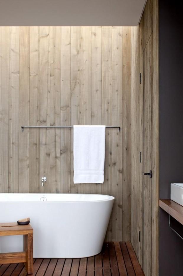 Деревянное покрытие в ванной комнате 4