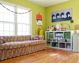 Китч комната в ретро стиле