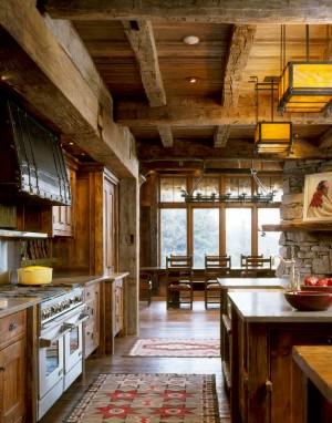 Кухня в стиле шале 3