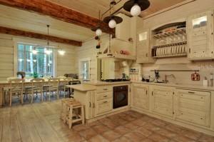 Кухня в стиле шале 6
