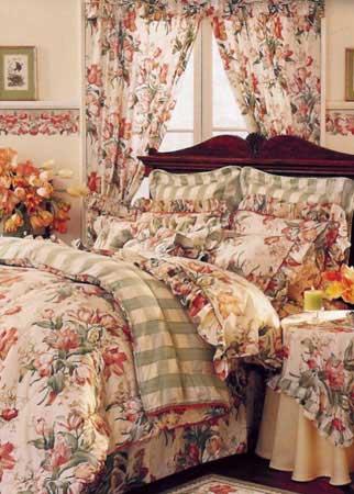 Кровать в интерьере Барокко