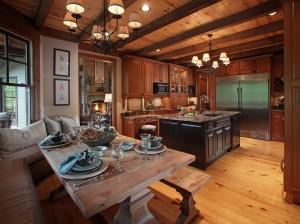 Кухня в стиле шале 5