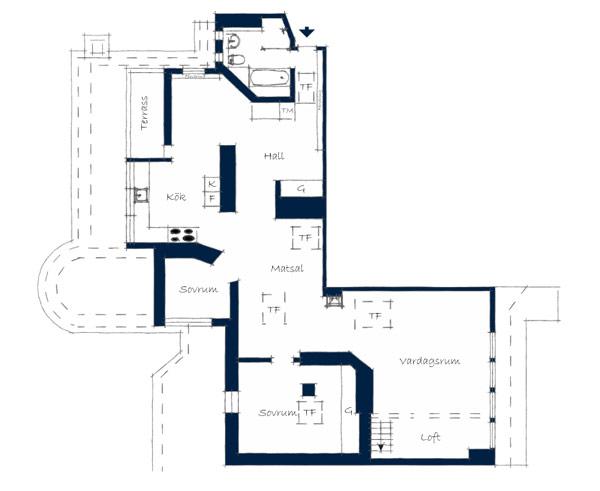 Удивительная квартира в Стокгольме 19