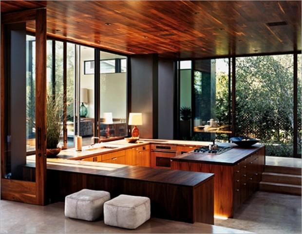 Cool Calm And Functional Kitchen: Стиль Модерн в интерьере: особенности и история, фото