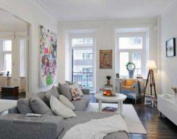 Уютный интерьер квартиры в Швеции
