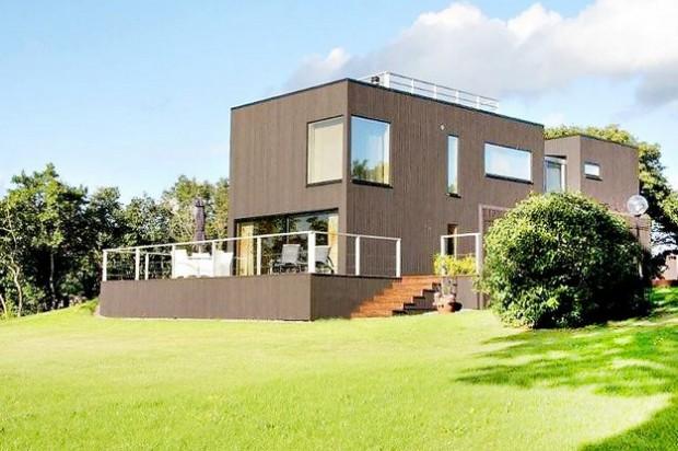 Шведский дом с видом на море 13