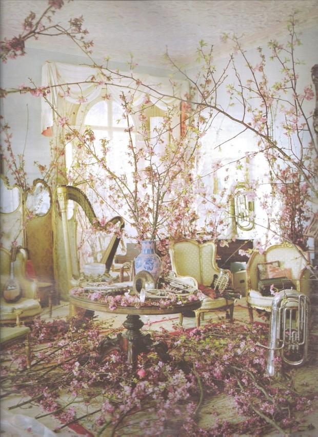 Живые цветы в оформлении интерьеров 5
