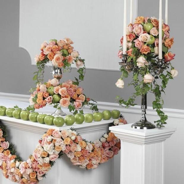 Живые цветы в оформлении интерьеров 7