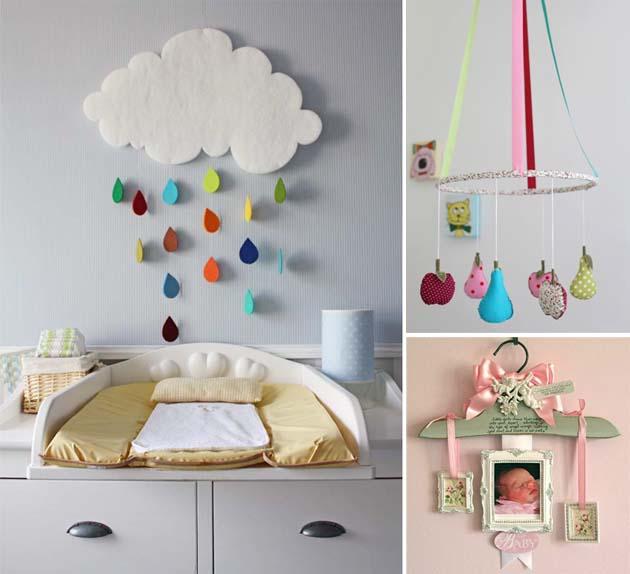 Как украсить комнату новорожденного своими руками 678