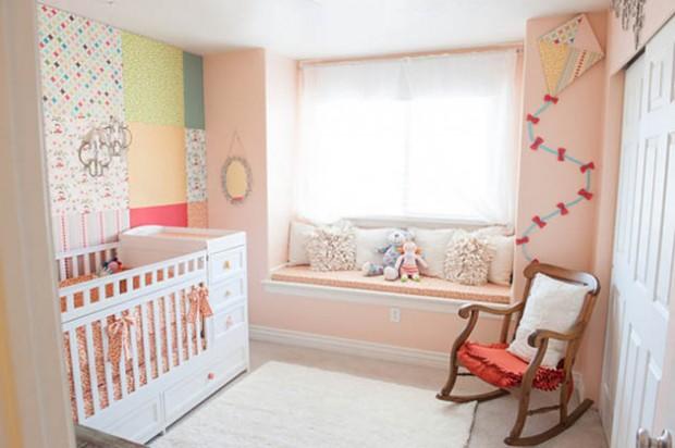 Нежно-розовая комната для новорожденного