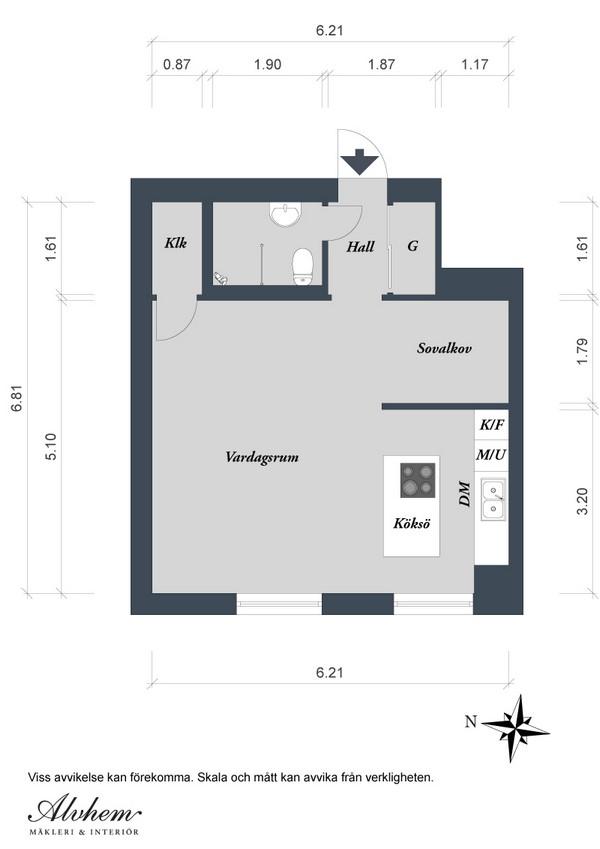 Малогабаритная квартира в Швеции 16