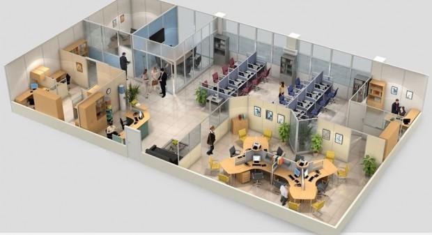План офисного помещения