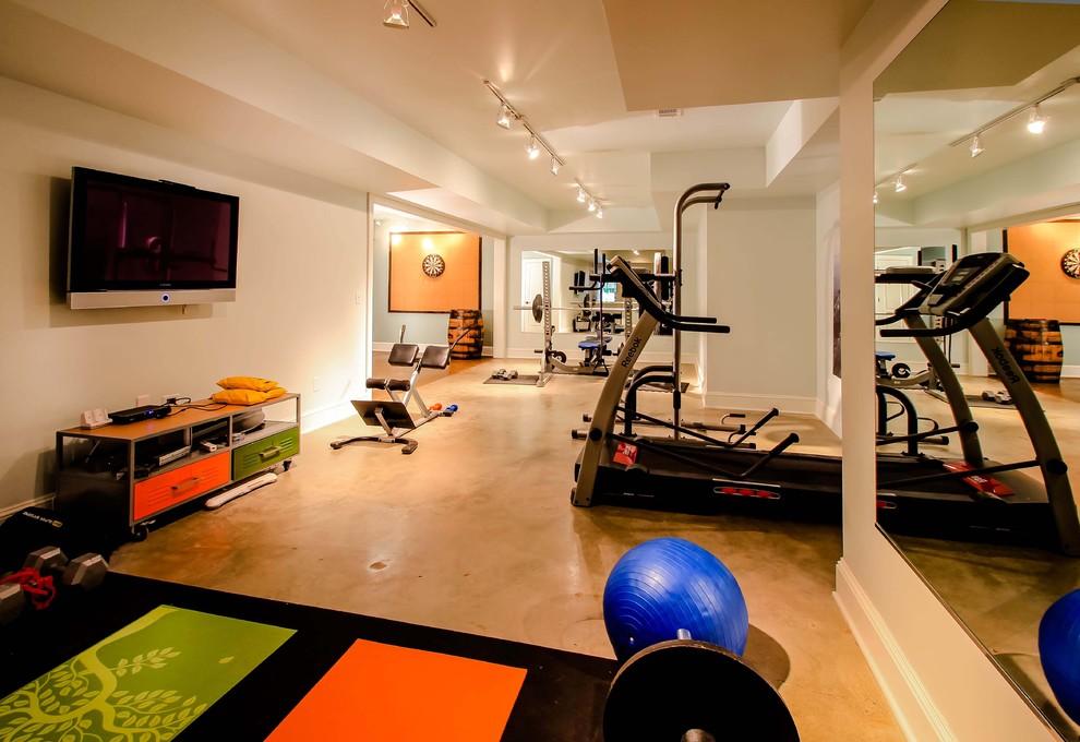 Интерьер спортивной комнаты в доме фото