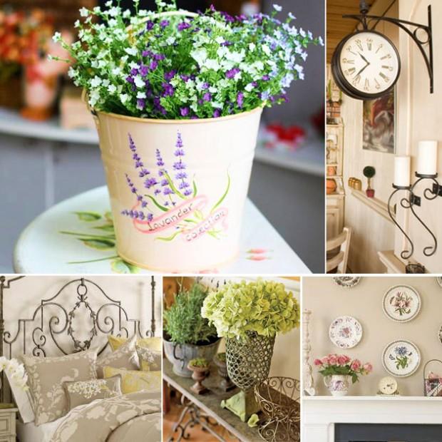 Бело-фиолетовые цветы в ведерке