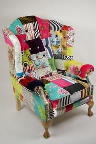 Кресло из лоскутов