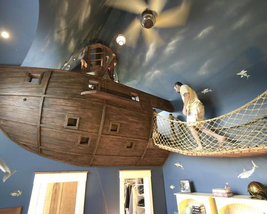 Пиратский дизайн интерьера детской 10
