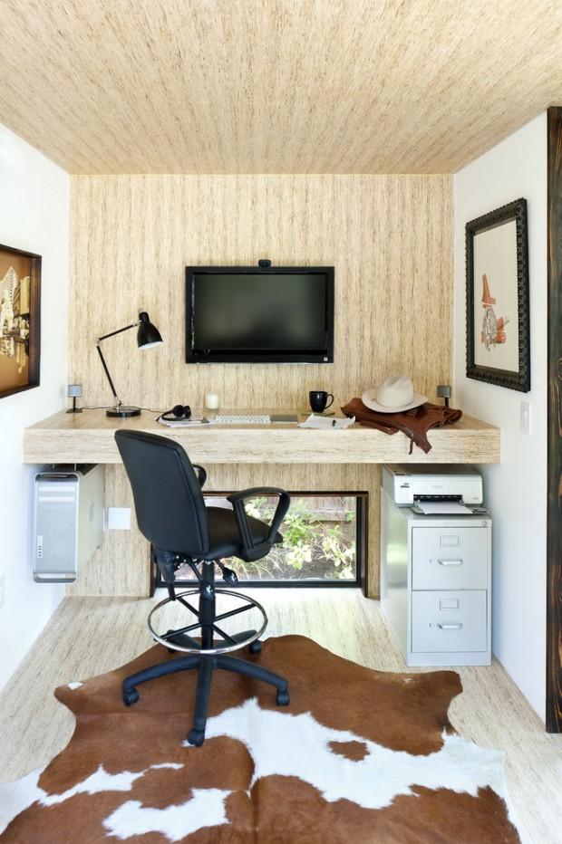 Маленький офисный кабинет в современном стиле