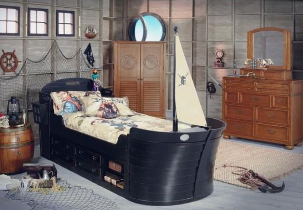 Пиратский дизайн интерьера детской 5