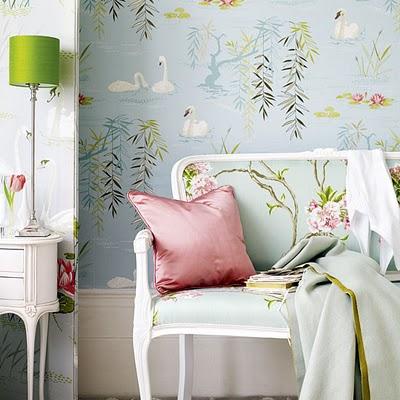 Интерьер спальной комнаты в романтическом стиле
