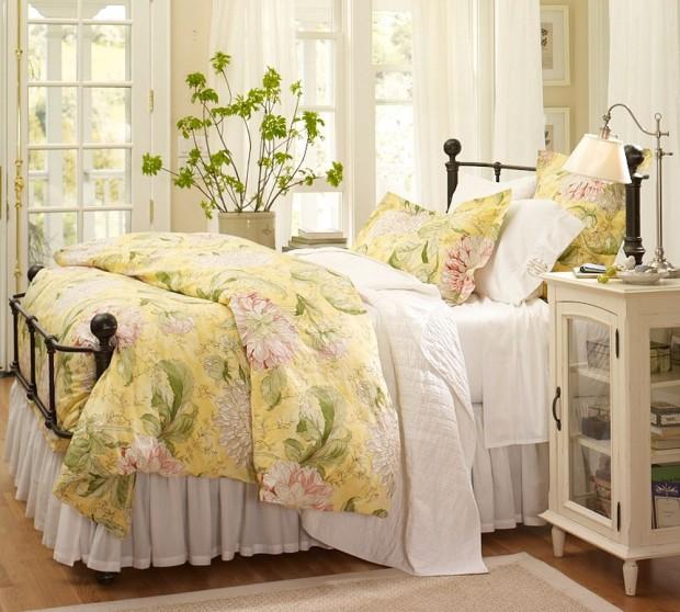 Интерьер спальной комнаты в романтическом стиле 5