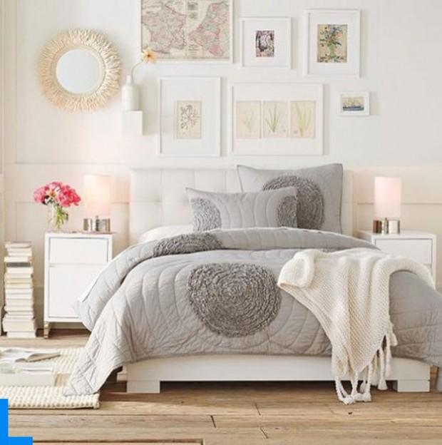 Интерьер спальной комнаты в романтическом стиле 3